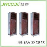 Assoalho que está o refrigerador de ar evaporativo portátil