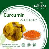 Естественный порошок CAS куркумина выдержки 95% завода: 458-37-7