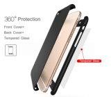Vente chaude cas de couverture totale de 360 degrés pour l'iPhone 7 6 6s 7 plus avec le dispositif de couverture libre en verre Tempered