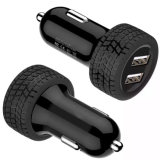 Tire Shape Dual USB Car Charger for Mobile Phone