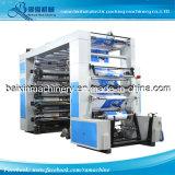 1-8 Color de la máquina flexográfica de alta velocidad de impresión (transmisión por correa síncrona)