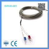 上海FeilongのタイプKの熱電対はおおわれるステンレス鋼を厳密に調べ曲げる