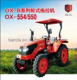 ディーゼル機関のKubotaのタイプ(OX554)が付いている新しい55HP四輪運転車輪のトラクター