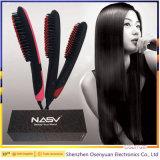 Enderezadora eléctrica del pelo del cepillo del LCD del cepillo del aire caliente de Profeesional
