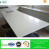 Witte Countertop van de Keuken van de Steen van het Kwarts van Artificail van de Fonkeling