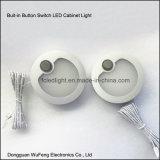 Luz Recessed alumínio do diodo emissor de luz Cabient do interruptor da tecla para a mobília
