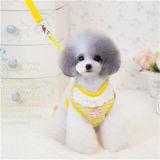 Madame rose mignonne Grace Cotton Dog Harness de lacet avec la laisse