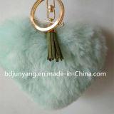 Schönes Inner-geformter Pelz-Schlüsselring-Fälschungs-Pelz-Beutel-CharmeFaux POM POM für Beutel