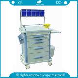 AG-A007b3 con el Hospital de almacenamiento de material ABS CARRO carro de anestesia