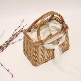 La nuova estate di disegno insacca la borsa di bambù di tessitura della cartella della paglia del rattan del Knit di qualità superiore con merletto T114