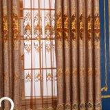 Cortina modificada para requisitos particulares 100% del apartamento del hotel del poliester de la talla con rayado