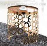 특별한 디자인 Rosegold 스테인리스 유리제 커피용 탁자 (CT098L)
