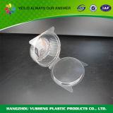 Runder Nahrungsmittelplastikspeicher-verpackenbehälter mit Kappen