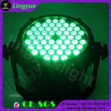 Alta calidad a prueba de agua DMX Auto 54X3W luz LED PAR