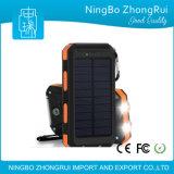 최고 판매 이동 전화 충전기 Portable 보편적인 태양 에너지 은행 8000mAh 1000mAh