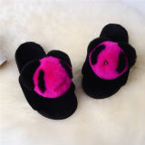 Новые модели летние моды дамы тапочки мягкие кролик мех слайды Босоножки для женщин