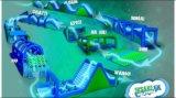 2018 5K obstáculo ejecutando inflable Carrera 5K Carrera de obstáculos para los adultos