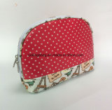 Met een laag bedekte Polyester met de Volledige Shell van Af:drukken Make-up Bags&Cases, Kosmetische Zakken van de Vorm