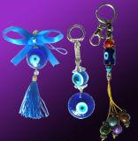 Porte-clés d'oeil de poissons et cintre (Fe)