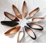 얇은 발뒤꿈치 Shoes 날카로운 발가락 여자 단화 한국 작풍 Elegent 숙녀