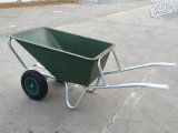 ثقيلة - واجب رسم مزدوجة هوائيّة عجلات اللون الأخضر حور مبلمر عربة يد زراعيّ