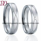 De nieuwe Ring van het Roestvrij staal van de Ringen van het Paar van de Liefde van de Stijl van Europa van de Aankomst 316L