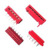 1.27 Conetor vermelho do Micro-Fósforo do conetor dos conetores IDC do passo IDC