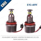 H8 자동 E92 LED 천사는 BMW 헤드라이트 E90 E91 E92 차 유행에 따라 디자인 하기를 위한 40W를 주목한다