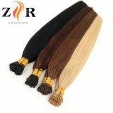 Natural de cor castanha desenhada cabelos mongol Ponta pequena extensão de cabelo humano