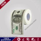 2ply ciento rodillo euro del papel higiénico de la impresión del dólar &500, papel de encargo de la impresión