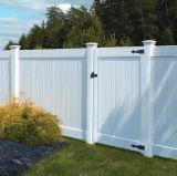 Frontière de sécurité blanche de vinyle de couleur pour la cour et le jardin