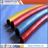 PVC renforcé de fibre de tuyau de gaz GPL
