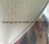 Tissu desserré de fibre de verre de papier d'aluminium d'épreuve d'incendie