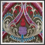 多色刷りの網の刺繍のレースポリエステル刺繍のレース
