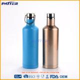 Les différentes couleurs de bonne réputation ont personnalisé la bouteille potable d'acier inoxydable