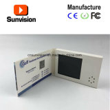 Изготовленный на заказ миниая поздравительная открытка визитной карточки брошюры LCD 2.4 дюймов видео- видео-