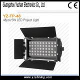 luz de la arandela de la pared de 72pcsx3w RGBW LED para la etapa