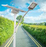 Certificado CE de la luz solar calle LED de 2 líneas de iluminación de carretera urbana