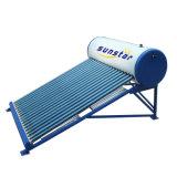 Calefator de água solar não pressurizado do tubo de vidro
