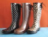 Ботинки популярного печатание женщины типа резиновый, ботинок дождя дешевки резиновый, ботинок повелительниц резиновый