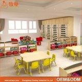 Les meubles de contre-plaqué de gosses de jardin d'enfants de pépinière ont placé pour la salle de classe préscolaire
