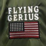 Borduurt het Vliegende Jasje van de Groene Mensen van de manier met Hoge Quolity