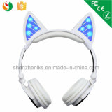 Radio mains libres rougeoyante brevetée de Bluetooth d'écouteurs d'oreille de chat d'OEM de sport