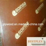 La película impermeable hizo frente a la madera contrachapada, madera contrachapada 1220*2440*9-21m m de la construcción