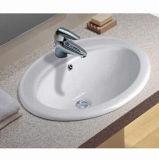 Au-dessus de lavabo en céramique de compteur, ci-dessus en céramique de fixation de laver les puits