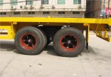semi-remolque plano 2axles de los 20FT