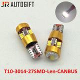 고품질 LED 전구 T10 3014 27SMD 렌즈 자동 Clearence 전구