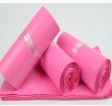 Annonce estampée par coutume rose opaque de sac de courier d'enveloppe d'emballage