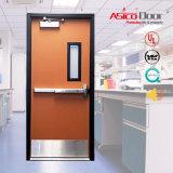 Puerta cortafuego de acero ensamblada con el panel de la visión (puerta cortafuego de la UL)