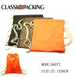 Les couleurs les plus populaires de promotion bon marché Sac avec lacet de serrage en nylon personnalisée